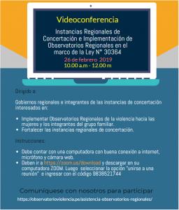 4ta videoconferencia observatorio mimp