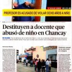 Abuso de alumno Chancay