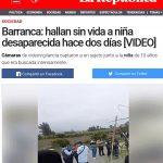 En Barranca violan y matan a niña