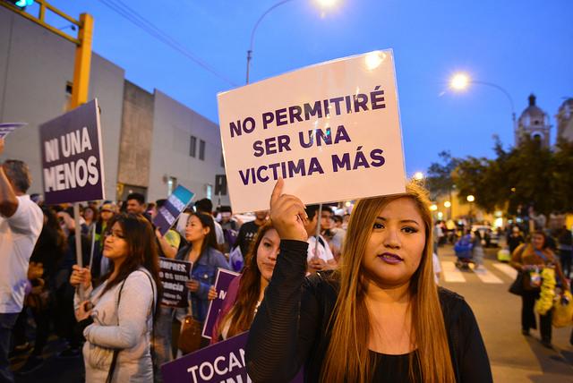 Mujeres en la marcha NI UNA MENOS