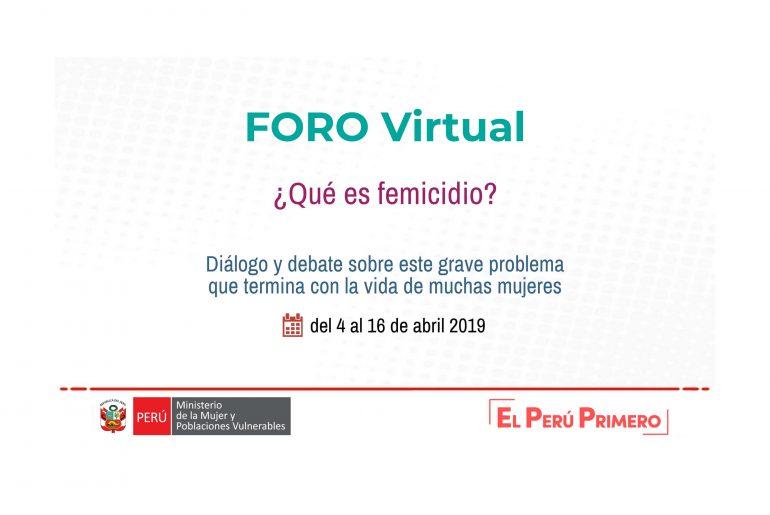 foro virtual feminicidio observatorio