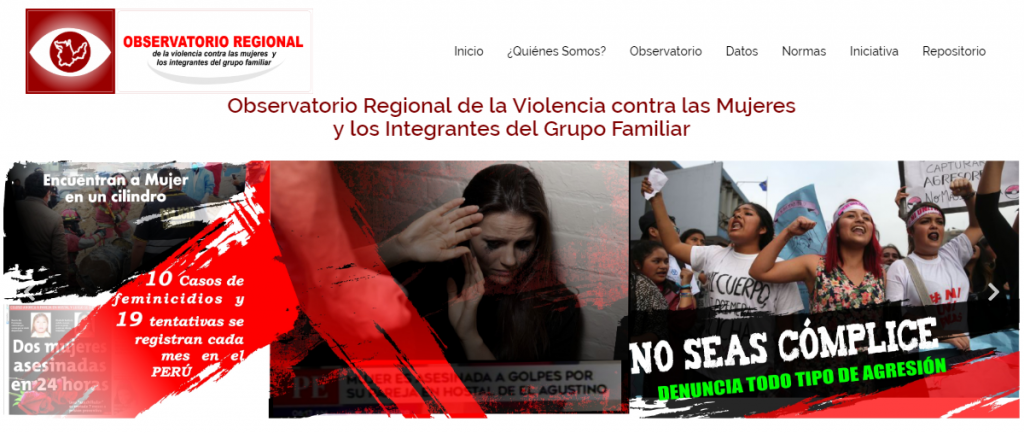 Portal Web Observatorio Huanuco