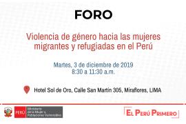 Violencia de género hacia las mujeres migrantes y refugiadas en el Perú