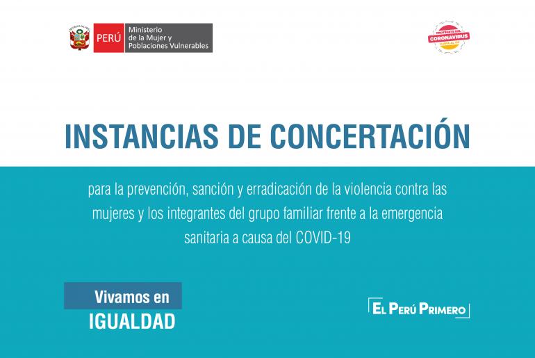 13 pasos que guían la acción de las Instancias de Concertación Regionales y Locales en casos de violencia en el marco del Estado de Emergencia y orden de inamovilidad por el COVID-19