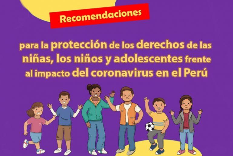 Medidas para proteger a la niñez y adolescencia en la pandemia COVID-19