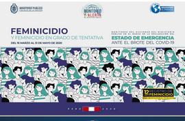Estadística Feminicidio marzo-mayo 2020 monitoreo del accionar del Ministerio Público en el marco de la declaración del Estado de Emergencia ante el brote del COVID-19