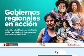 Gobiernos regionales en acción - Maternidad saludable, acceso a planificación familiar y una vida libre de violencia durante la pandemia por el COVID-19