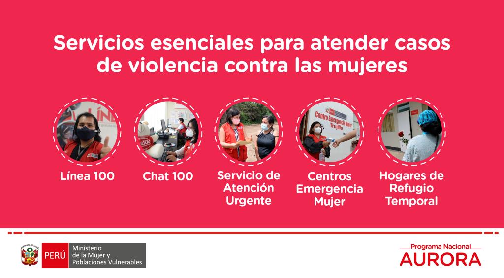 Servicios esenciales para atender casos de violencia contra las mujeres