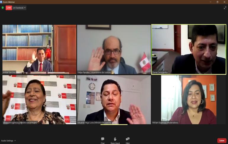 Presentación de la publicación Perú Feminicidios y violencia contra la Mujer, 2015-2019
