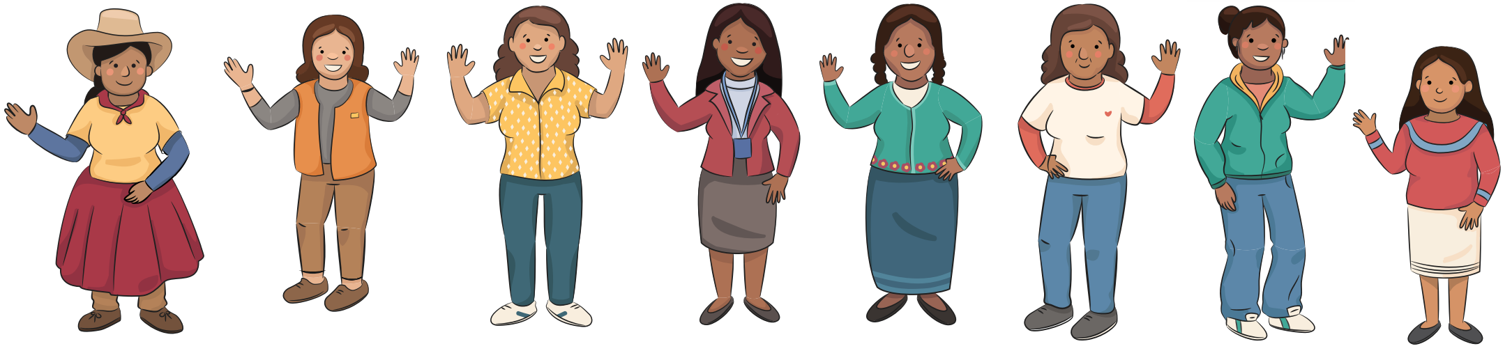 edad etnia género mujeres